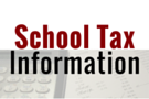 School Tax Information for the 2017-2018 school year