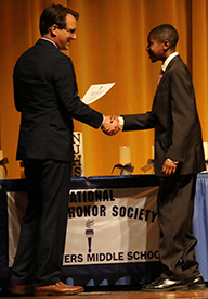 Twin Towers National Junior Honor Society induction